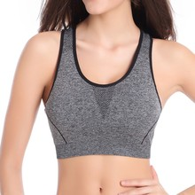 Women Fitness Stretch Quick Dry Tank Top Seamless Racerback Yoga Sports Bra 3 Color Drop Shipping