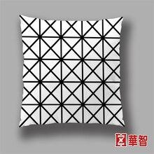 Черный и белый цвет декоративные подушки Геометрическая стиль подушка для диван