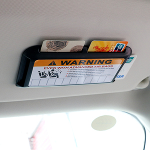 Image 3 - LEEPEE Car styling Auto Sun Visor Organizer for Temporary Parking Phone Number Clip High Speed IC Card Holder Stowing Tidying