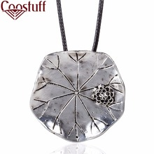 Beautiful Lotus leaf necklaces & pendants Vintage Long Necklaces for women New Fashion Men Jewelry statement necklace Women