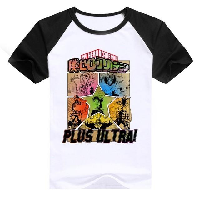 Newest Boku No Hero Academia Cosplay T Shirts Man Clothing Funny Cartoon My Hero Academia Print Japanese Anime T-shirt Male