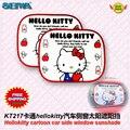 Envío libre Accesorios Del Coche de Hello Kitty Cubierta de parachoques con Láminas ventana lateral sombrilla Del Parabrisas Del Visera de dibujos animados Bloque KT217