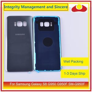Image 5 - 50 pièces/lot pour Samsung Galaxy S8 G950 G950F SM G950F boîtier batterie porte arrière couvercle en verre coque châssis