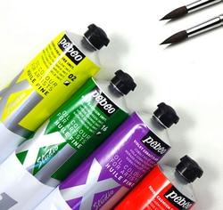 Freeshipping pebeo studio XL S1 200ml oil paints professional painting paint huilt fine 72 colors tube zinc white for artists