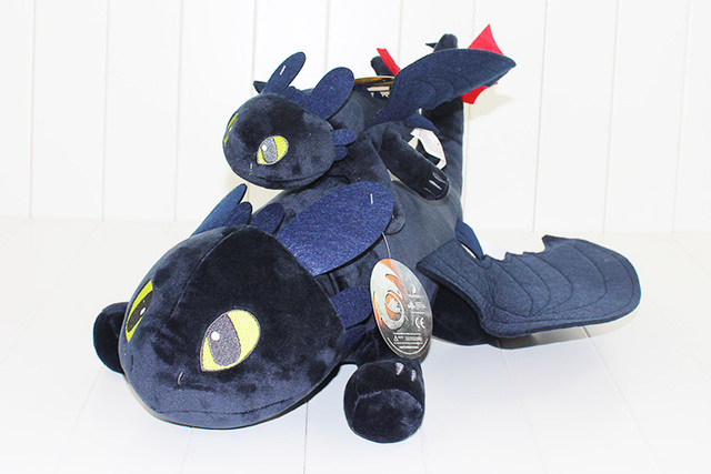 33 42 55cm Toothless Plush Night Fury Anime How to train your dragon Stuffed Dolls Soft