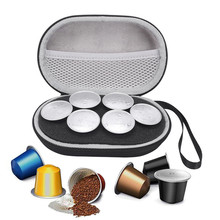 Handheld Carrying Bag Storage Case for Nespresso 6pcs Capsules Coffee Pods Portable Travel Cover Pouch Cases Protective Handbag