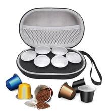 כף יד נשיאה שקית אחסון מקרה Nespresso 6pcs כמוסות תרמילי קפה נייד נסיעות כיסוי פאוץ מקרי מגן תיק