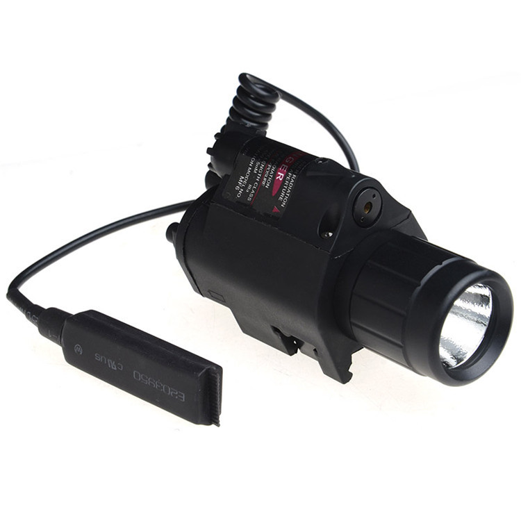 Pistol Red Laser Combo Hunting Sight Scope 650nm Tactical LED Flashlight Switch Button For Rifle Pistol Gun Airsoft Shot tactical 5mw 650nm red laser dot rifle scope sight for 20mm gun gauge black