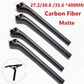 New products full carbon fiber bicycle seatpost MTB road bike parts superlight 190g seat post 3k matte 27.2/30.8 /31.6 *400MM