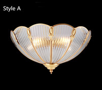 Luxury Kitchen Led Ceiling Light Fixtures Hanging Lamp Antique Copper Ceiling Lamp Study Room Bar Cafe