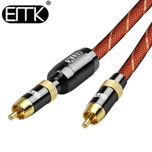 Image 4 - EMK الصوت الرقمي كابل محوري OD8.0 6.0 قسط ستيريو الصوت Rca إلى Rca ذكر كابل محوري المتكلم Hifi مضخم الصوت كابل AV TV
