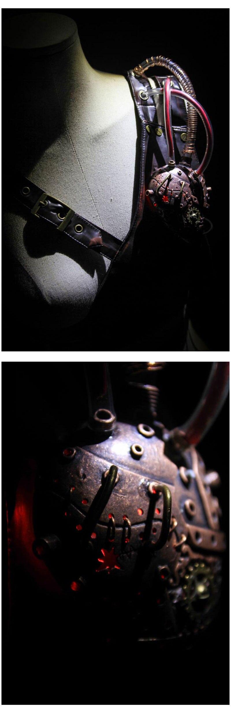 Retro Bronze/black Metallics Rubber Steampunk Pipeline Gas Mask Gothic Punk Game Women/men Halloween Cosplay Costume Accessories Good Taste Costumes & Accessories Boys Costume Accessories