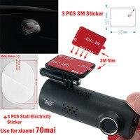 Für 70 mai Dash Cam Smart Auto DVR 3M Film und Statische Aufkleber, geeignet für 70 mai Auto DVR 3M film halter 3 stücke