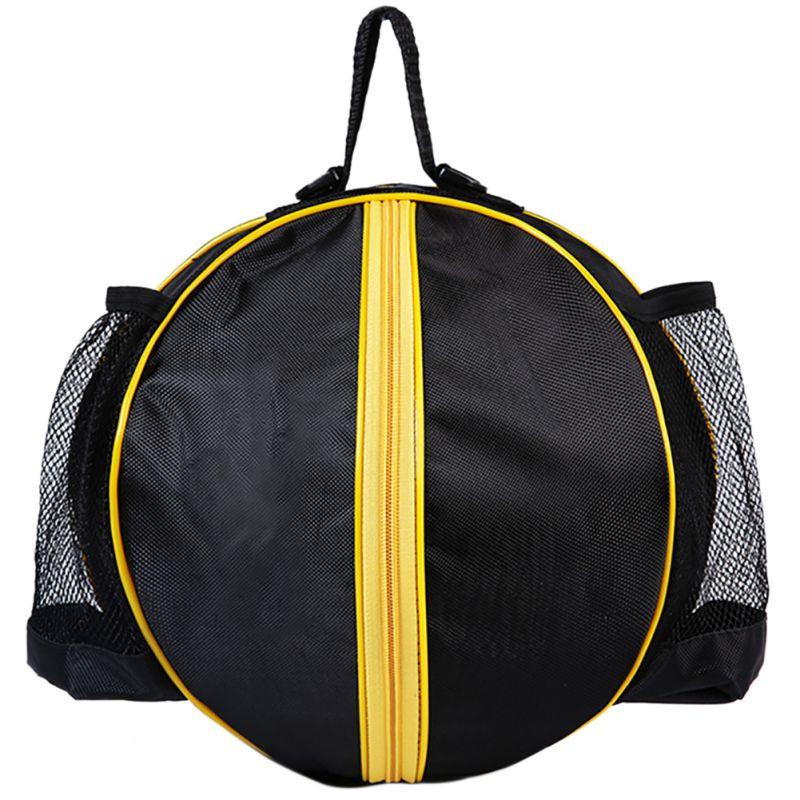 Круглая Сумка для мячей, рюкзак для баскетбола, волейбола, футбола, регулируемый наплечный ремень, сумки для хранения-4