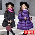 4 5 6 7 8 9 10 11 12 13 Anos Meninas Crianças jaqueta de 2016 Meninas Adolescentes Moda Vestidos de Manga Longa Meninas Parka Inverno Quente Elegante