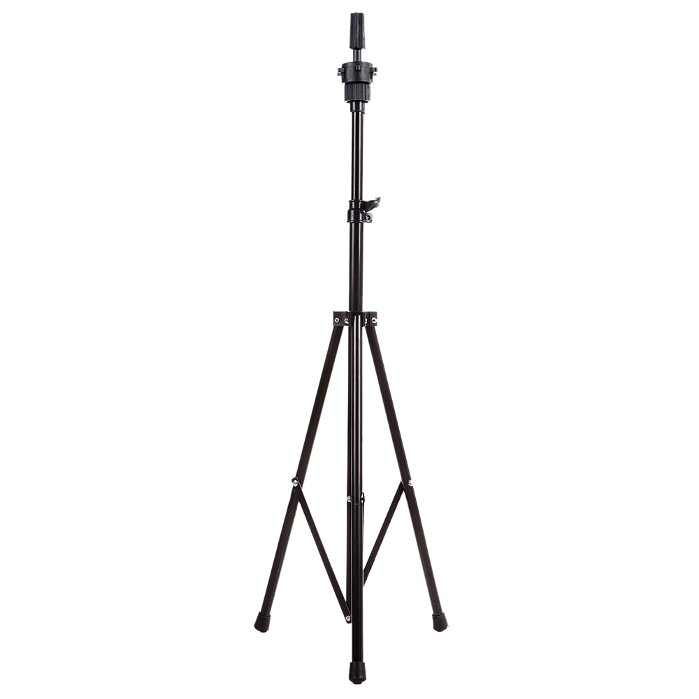 Adjustable Wig Head Stand Tripod Holder Mannequin Tripod for Hairdressing Training