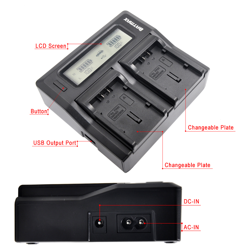 Ultra Fast VW-VBG6 VW VBG6 LCD Dual Charger for Panasonic AG-HMC71 AG-HMC73 AG-HMC-150 AG-HMC151E AG-HMC153MC AG-AC130 AG-AC160 цена