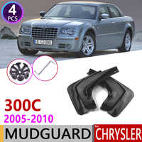 Front Rear Car Mudflap for Chrysler 300C 300 C 2005~2010 Fender Mud Guard Splash Flaps Mudguards Accessories 2006 2007 2008 2009