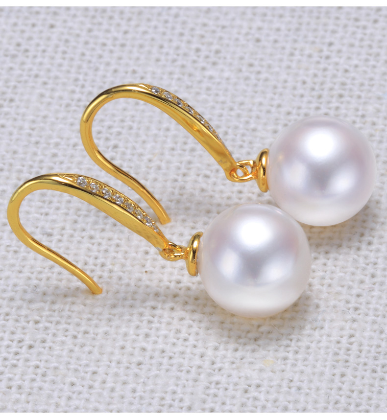 gold freshwater pearl earrings jewelry 66