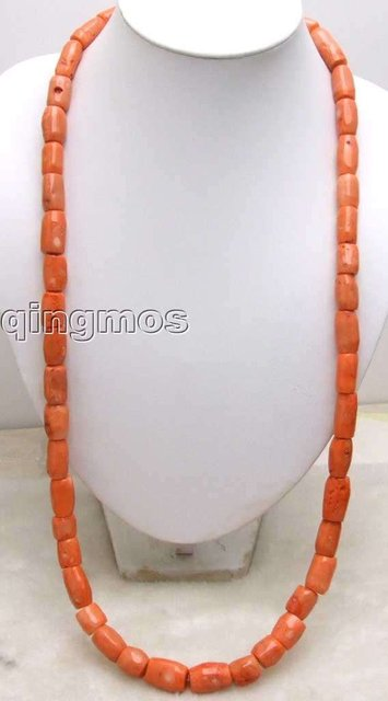 "Long 35 "" GENUINE NATURAL 10-20mm Thick Slice Pink Coral Necklace-5521 wholesale/retail Free shipping"