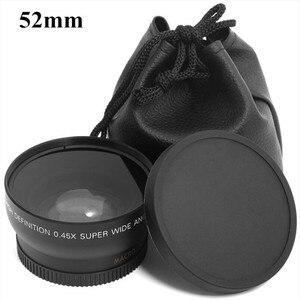 Image 1 - 0.45x52mm 52 Fisheye Grandangolare Macro di Conversione Grandangolare Lens Bag 62mm Cap per Nikon D5000 D5100 D3100 D7000 D3200 D90 1 pz