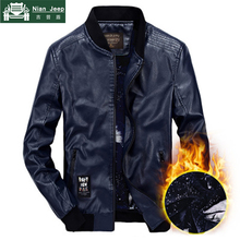 Brand 2018 New Casual Leather Jacket Men High Quality Winter Warm Wind