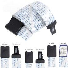 48 см/60 см SD карта мама к TF micro SD папа(SD к SD, TF к TF) гибкая карта удлинитель адаптер ридер