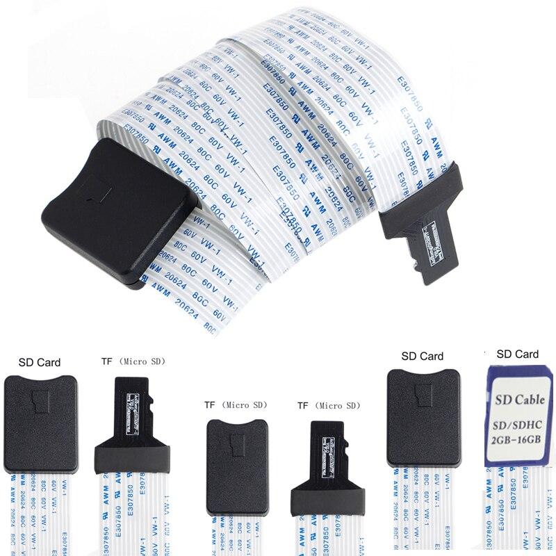 48 CM/60 CM SD karte Weibliche zu TF micro SD Männlichen (SD zu SD, TF zu TF) Flexible Karte Verlängerung kabel Extender Adapter reader-in Datenkabel aus Verbraucherelektronik bei