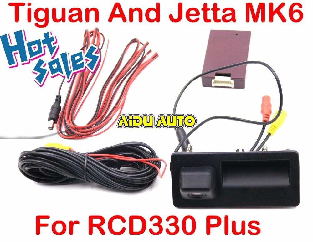 RCD330 Plus MIB Radio Carplay Rcd330 + AV Tronc Poignée Arrière Caméra De Recul Pour VW Tiguan Jetta MK6