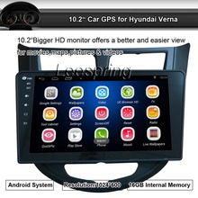 10.2 inch 1024*600 Touchscreen Android Car Stereo Bluetooth GPS Radio player for Hyundai Verna Support Mirror Link WIFI 1080P