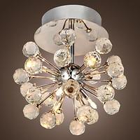 Flush Mount Modern Crystal Ceiling Lamp For Living Room Lights Cristal LED Ceiling Light Plafon lustres De Cristal