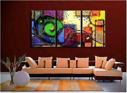 Wall Art Home Decor Love ~ Free shipping handmade modern oil painting on canvas