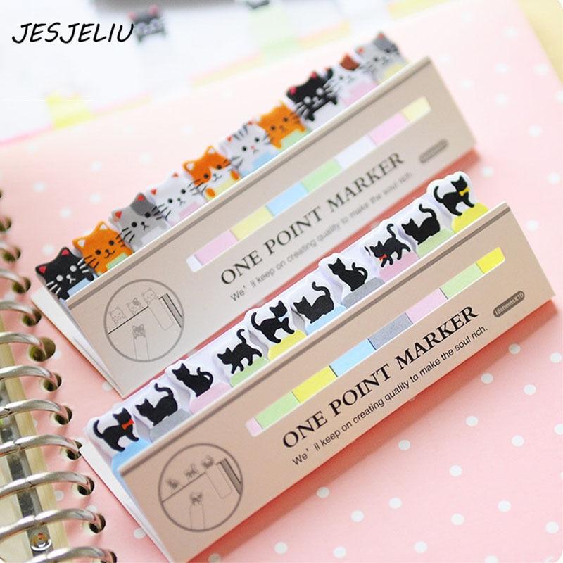 Fashion Cute Sticky Notes Post it DIY Cat Heart Memo Pads Kawaii Korean Stickers
