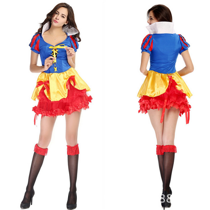 2018 new sexy adult Snow White Princess Dress high quality birthday Party Cosplay dresses Carnival Halloween costumes for women