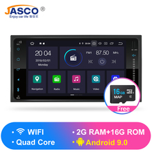 Android 9.0 RAM 2G ROM 16G Car DVD Gps Navigation Radio Video Player Stereo Universal 1 Din Radio Car Multimedia Player Gps цена 2017