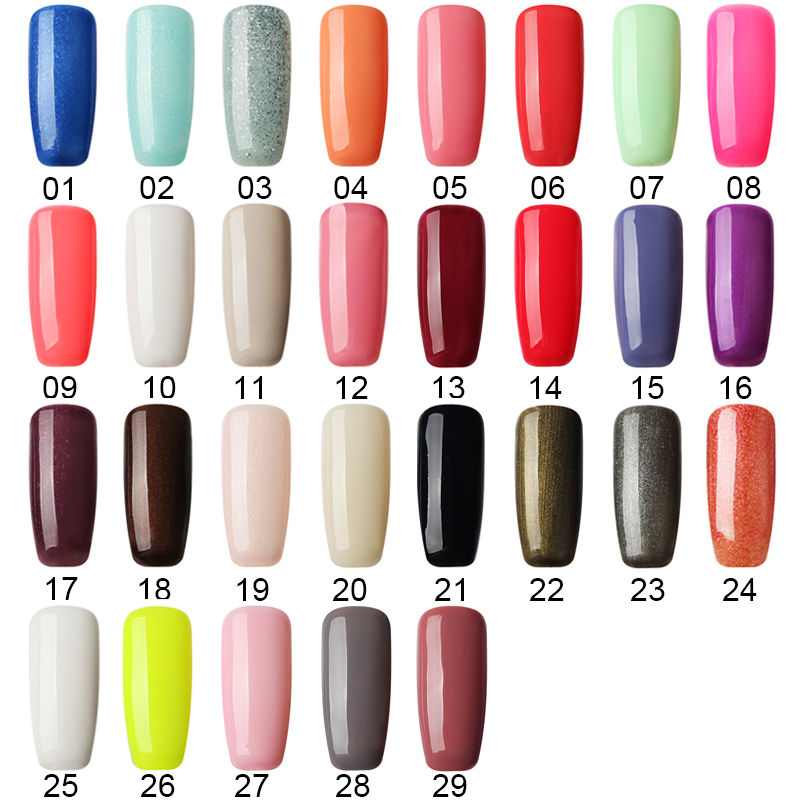 1pcs 8ml UV Nail Gel Polish Hot Sale Nude 29 Colors Varnishes Long Lasting Saok Off Semi permanent Gel Lacquer Prime Base Top in Nail Gel from Beauty Health