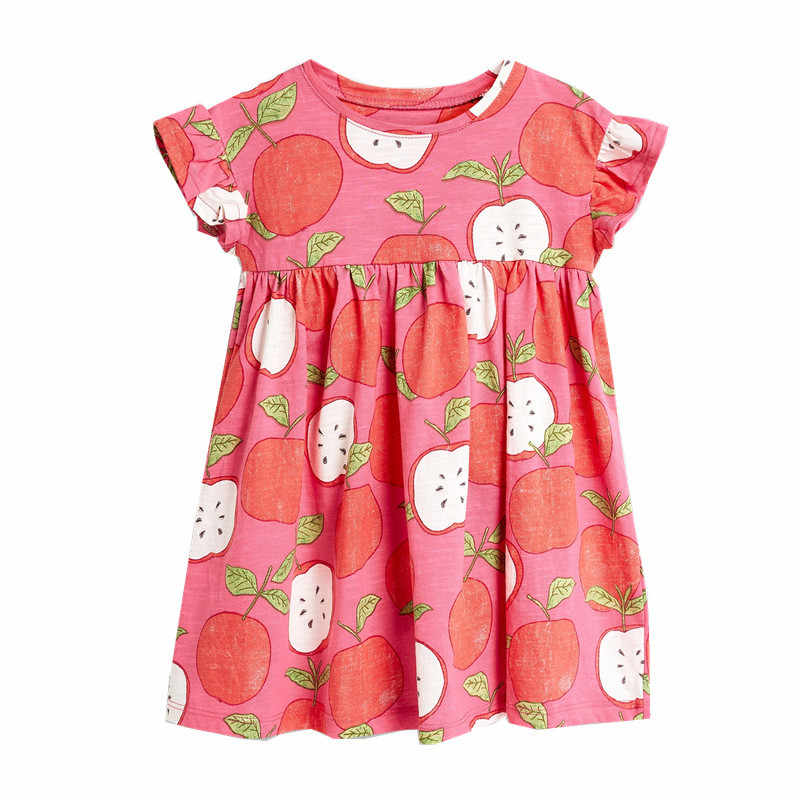 Jumping meters Baby Girls summer cartoon apple dress new designed short sleeves clothes kids new fashion princess dresses 2-7T