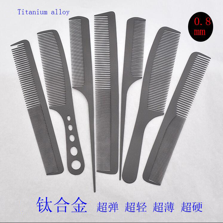 2018 High quality Hair Comb Anti-static Titanium alloy Hair Brush Professional For Salon Hair Styling Tools Hairdressing Barbers