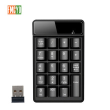 New Promotion 2.4G Wireless Digital Key Keyboard Suspension Mechanical Feel 19 Key Equipment Accounting Bank Keypad Report
