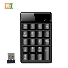 Nueva Promoción 2,4G teclado de llave Digital inalámbrico suspensión mecánica sensación 19 clave equipo de cuenta Banco teclado informe