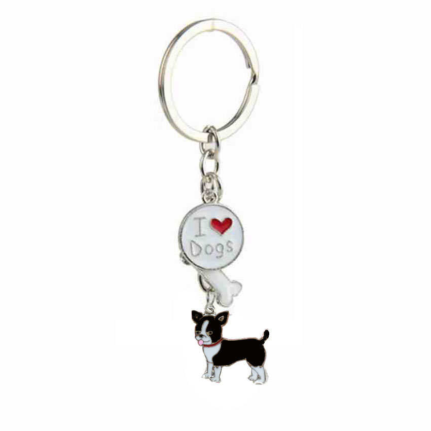 Chihuahua Dog Pendant Key Chains For Women Girls Men Silver Color Metal Key Ring Car Keychain Bag Charm Keyring Fashion Jewelry kids letter print pocket tee