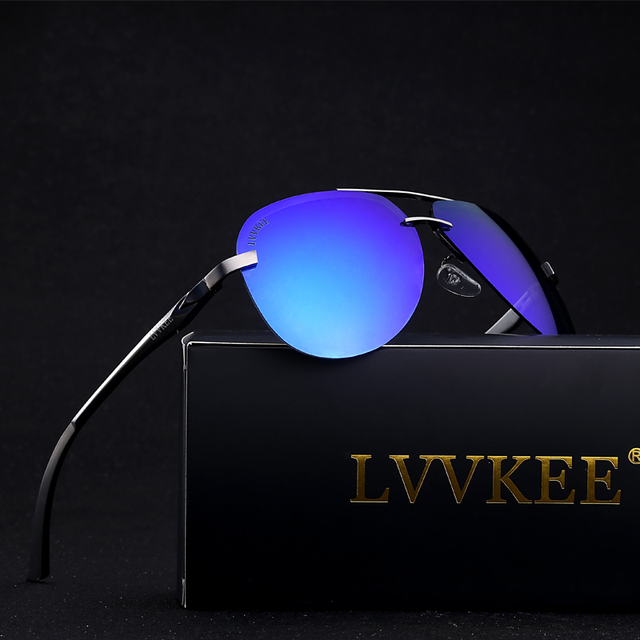2017 LVVKEE top brand design men Polarized Sunglasses driving sunglasses UV400 Luxury hot rays brands original packaging glasse