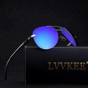 Mens Polarized Sunglasses Driver Mirror Sunglasses Pilot Brand Fashion Sunglasses Polaroid Lens Spring Metal Hinge Sunglasses
