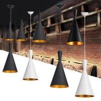 AC100 240V Modern Chandelier Retro Style Ceiling Pendant Light Bar Dining Room Kitchen Shade Lamp Shades Iron Single Head Lamp