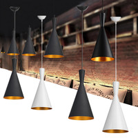 AC100 240V Modern Chandelier Retro Style Ceiling Pendant Light Bar Dining Room Kitchen Shade Lamp Shades Iron Single Head Lamp