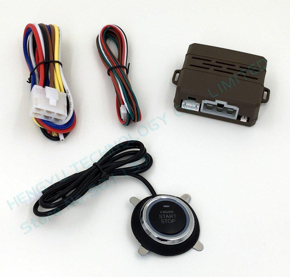 imágenes para Nueva universal botón start stop botón, toque de un dedo de inicio, trabajo independiente, bypass opcional FS-50 keyless go, arranque remoto del motor