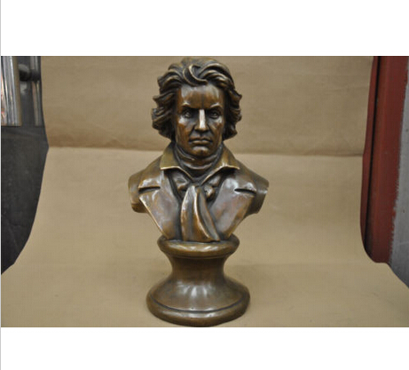 12'' China BRASS Great <b>Musician</b> Beethoven Bust BRASS Statue wholesale BRASS Arts outlets - China Cheap Products