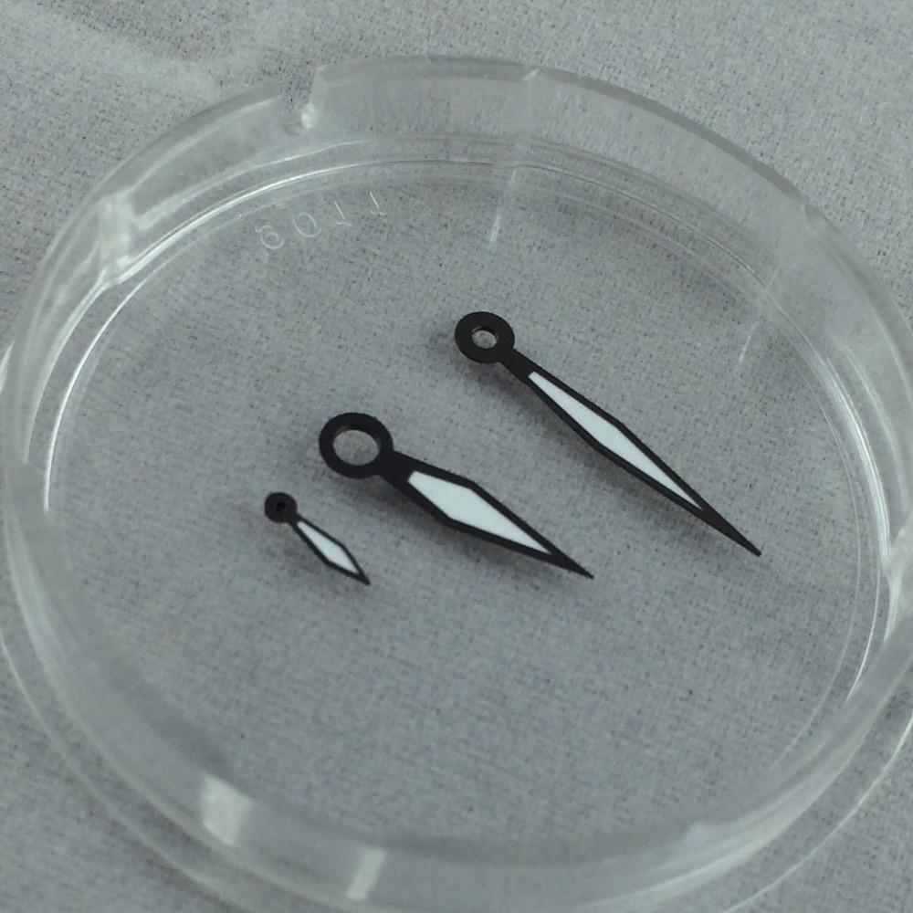 BRAND NEW Black HAND Luminous Analog Newest Design FOR UNITAS ETA 6497 6498 Movement Mens Watch Hands Replacement Parts