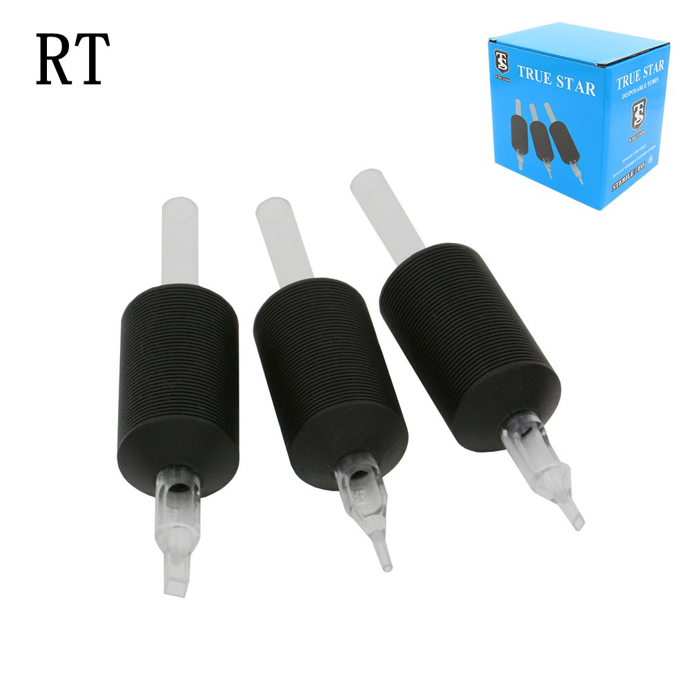 20Pcs 30mm Sterilized Disposable RT Tattoo Grips With Clear Long Tips Round Tattoo Tube For Tattoo Needle/tattoo Machine