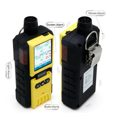 купить Pumping Gas Detector 4 in 1 O2 H2S CO Flammable with Alarm Oxygen Carbon Monoxide Gas Analyzer Monitor FGas Leak Detector онлайн